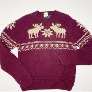 NWT Abercrombie & Fitch Hand Knit Wool Sweater XL